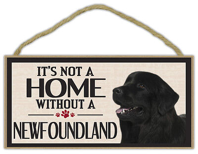 Wood Sign: It's Not A Home Without A NEWFOUNDLAND (NEW FOUNDLAND) | Dogs, Gifts