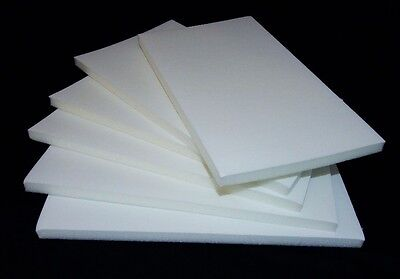 Lot Of 6 White Velvet Topped Foam Dispaly Inserts With No Ring Slots