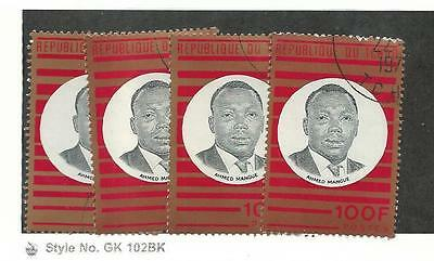 Chad, Postage Stamp, #228 (4 Each) Used, 1970