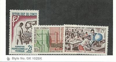 Congo, Postage Stamp, #112-113, 117 Mint NH, 1964