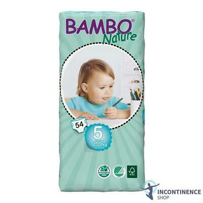 Bambo Nature Size 5 - Junior (12kg - 22kg) - Pack of 54
