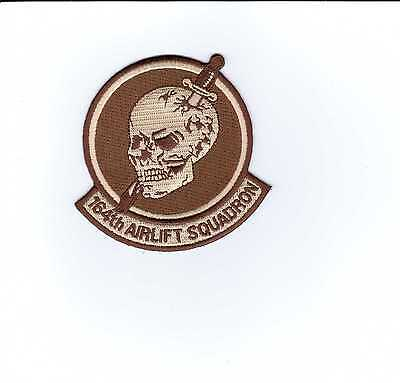 USAF PATCH - 164th AIRLIFT SQUADRON DESERT TAN COLOR:GA14-1