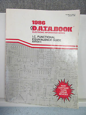 Data Book Ic Functional Equivalence Guide  Edition 5  1986