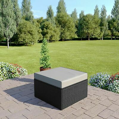 BLACK Rattan Modular Corner Sofa Set Garden Furniture L Shape FREE OUTDOOR COVER