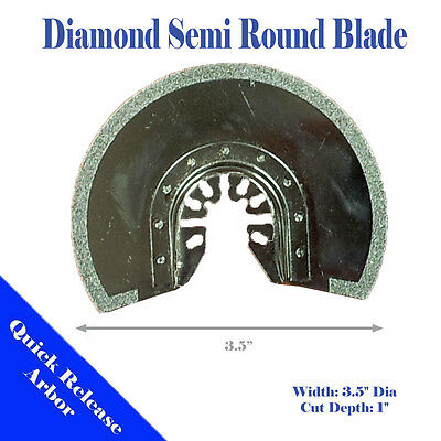 Versa Tool SB5O 63mm Semi Round Electroplated Diamond Grout Blade 8mm Offset