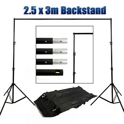 Photography Photo Studio Backdrop Background Support Stand Set Light Stands Kit
