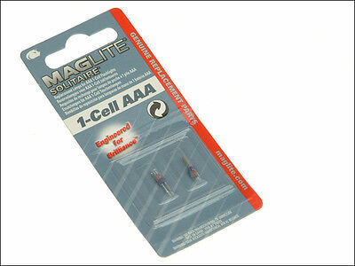 MAGLITE SOLITAIRE 1 CELL AAA SPARE TORCH BULB - Pack of 2 Replacement Bulbs