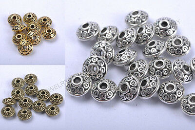 FREE SHIP 50Pcs Wholesale Tibetan Silver Little Bicone Spacer Beads 6MM C784