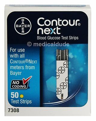Bayer Contour Next Blood Glucose 50 Test Strips 1 Box of 50