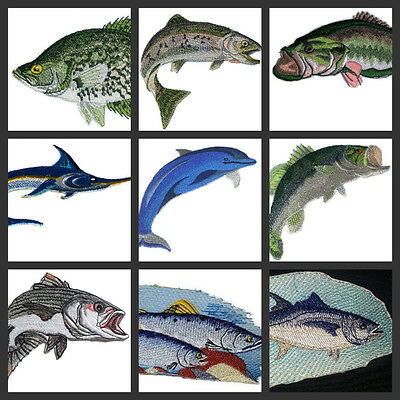 Beautiful Fish Collection-II Embroidered Iron On Patch