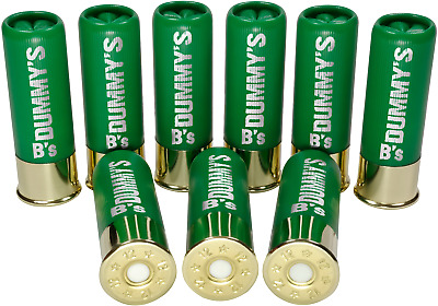 "B's Dry Fire Snap Caps® Dummy 12 Gauge Training Rounds: Green 3"" (9 Pack) 12 Ga"