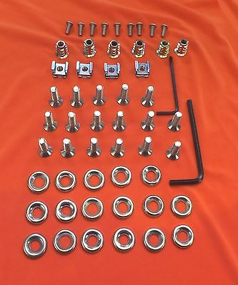 58 Piece Audi TT Mk.1 Stainless Steel Countersunk Engine Bay Cover Fastener Kit