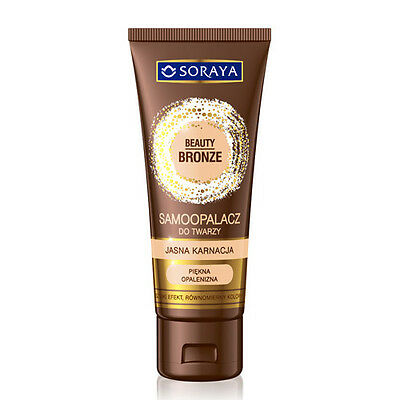 Soraya Beauty Bronze Self Tanning Face Cream Fair Dark Complexion Self Tanner