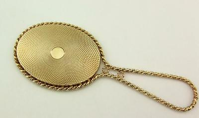 Vintage 9Ct Gold Hand Mirror London 1986