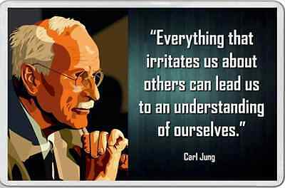 CARL JUNG FRIDGE MAGNET PHOTO & personal quote Unusual gift