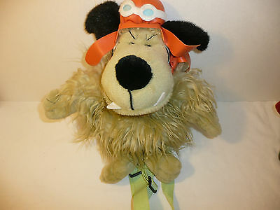 Muttley Plush BACKPACK - The Dog from Dick Dastardly Hanna Barbera Wacky Races