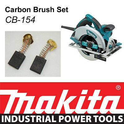 "NEW Makita 5007MG 7-1/4"" Magnesium Circular Saw Genuine CARBON BRUSH SET CB-154"