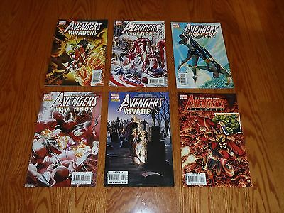AVENGERS / INVADERS, lot of 6 issues, (Marvel/Dynamite 2008), NM, 1, 2, 3, 4, 6