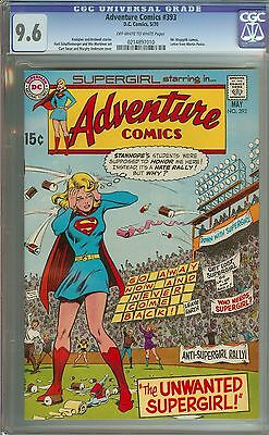 Adventure Comics #393 Cgc 9.6 Ow/wh Pages // Curt Swan Cover