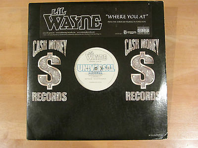 "Lil Wayne - Where You At - Us 12"" - Hip Hop - Rare 2002 - Cash Money"