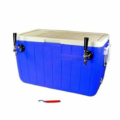 Jockey Box Cooler - Two Faucet with (2) 70' Stainless Steel Coils, 48qt Beer