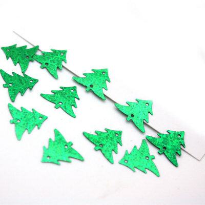 5grams Green Holographic Loose 19MM Christmas Tree Sewing Wedding Craft Confetti