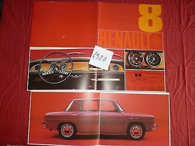 N°4920   / RENAULT 8    :  catalogue d'epoque