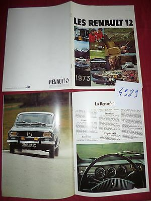 N°4929   / catalogue RENAULT 12 octobre 1972