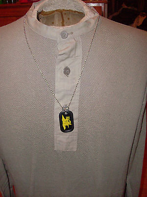 Military Dog Tags / Key Chain Navy Seals With Rubber Silencer And Chain.