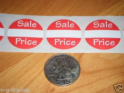 "100 Self-Adhesive Sales Price Labels 1"" Stickers / Tags Retail Store Supplies"