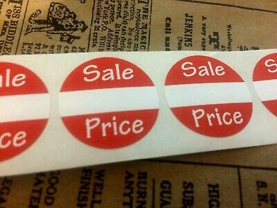 "250 Self-Adhesive Sales Price Labels 1"" Stickers / Tags Retail Store Supplies"