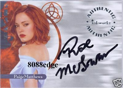"""2003 CHARMED POWER OF THREE AUTO: ROSE McGOWAN as PAIGE #A8 AUTOGRAPH """"SCREAM"""""""