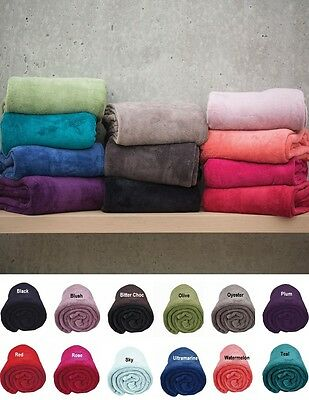 Bambury Microplush Super Soft & Snuggly Throw Rug Blanket