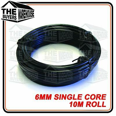 Wire 6Mm Trade Single Core Automotive Wiring Cable 10 Metre Black