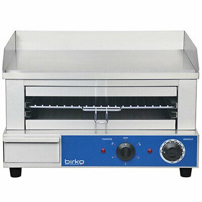 Birko 15 Amp Commercial Grill Griddle & Toaster Combination 1003002