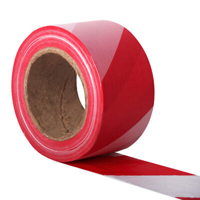 500 Metre Red & White Stripe Non Adhesive Barrier Hazard Warning Utility Tape
