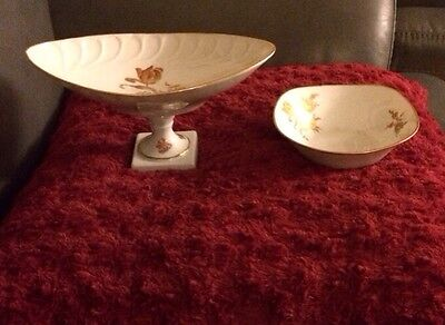 Limoges Candy Nut Dishes France Vintage Rare Footed