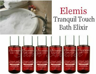 ELEMIS Tranquil Touch Bath Elixir Bath Cleanser Shower Gel HUGE 300ml (6 x 50ml)