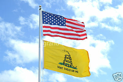 LOT 3' X 5' U.S.  AMERICAN & DBL SIDED GADSDEN DONT TREAD ON ME  FLAG 3X5