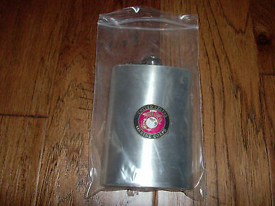 Marine Corps 8 Oz Flask Stainless Steel