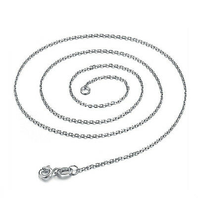 Italian Sterling Silver 1mm Rolo Thin.Cable Chain Necklace ALL SIZES Italy Real.