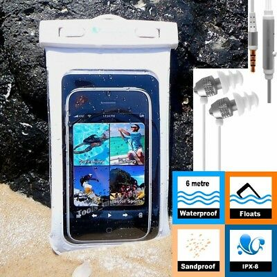 WATERPROOF CASE +EARPHONES Swimming iPhone 6 6s Samsung S8 S7 S6 A5 J5 Dry Bag