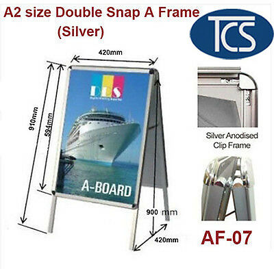 TCS Clip A2 size Double Snap A Frame/ Board Display Sign Poster Stand 32mm Frame