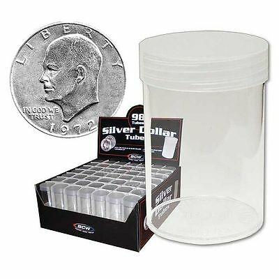 BCW Coin Storage Holder Tubes for Morgan Peace Liberty Silver Dollars, 5 Pack