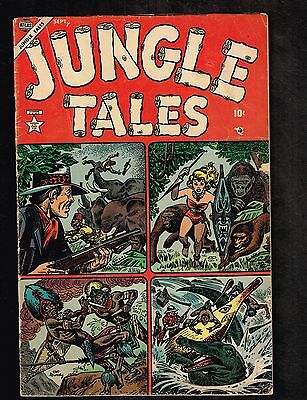 "Jungle Tales #1 ~ ""Rampage!"" / Jann of the Jungle, Atlas ~ 1954 (4.5) WH"