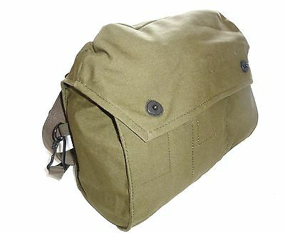WW2 ARMY ISSUE CANVAS HAVERSACK Gas mask shoulder bag Indiana Jones satchel