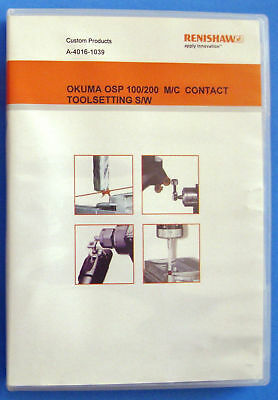 Renishaw Okuma OSP 100/200 M/C Contact Tool Settng CD Software A-4016-1039