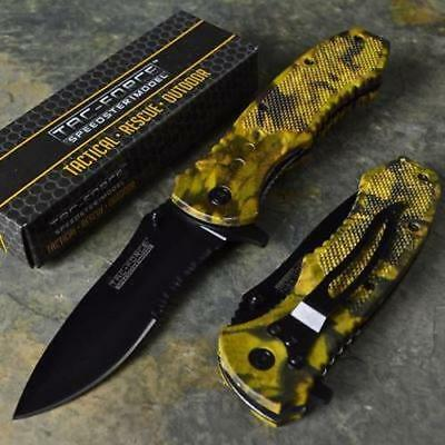 TAC-FORCE New Speedster Rescue Outdoor Camo Spring Assisted Folding Pocket Knife