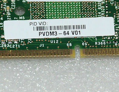 PVDM3-64 64-Channel High-density Voice and Video DSP Module - 6 MnthWty -TaxInv