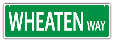 Plastic Street Signs: WHEATEN WAY (TERRIER) | Dogs, Gifts, Decorations